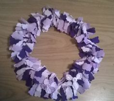 Fabric wreath with flowers