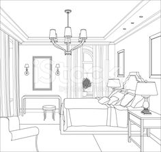Artwork For Home Decoration Info: 4579434925 Drawing Interior, Interior Design Sketches, Best Interior Design, Gray Interior, Living Room Interior, Interior Livingroom, Cafe Interior, Interior Paint, Artwork For Home