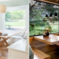 A lot of natural lighting, combined with wooden tables and a good cup of coffee can turn you breakfast nook into a morning sanctuary. Bright colors on walls and décor can create more pleasant and natural feel. Here you will see always present kitchen windows as a must-have for breakfast nooks and a perfect place […]