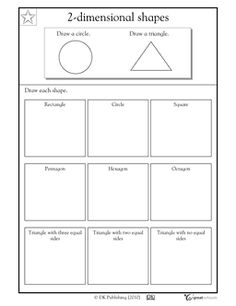 Drawing shapes - Worksheets & Activities | GreatSchools