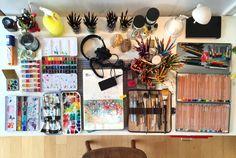 clarafialho: My drawing supplies. -