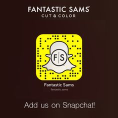Fantastic Sams is on Snapchat - Add us on Snapchat! Scan our Snapcode or add us…
