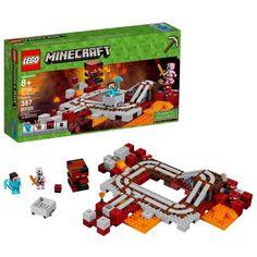 Minecraft LEGO The Nether Railway 21130 - 387 Pcs Kids Toy Gift for sale online Lego Hogwarts, Lego Minecraft, Lego Lego, Minecraft Stuff, Minecraft Ideas, Minecraft Skins, Lego Disney, Legos, Lego Poster