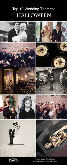 Top Unique Wedding Themes: Halloween Inspired