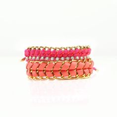 How to Style Melon and Mint Together... Coral stacked bracelets