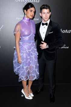 Priyanka Chopra and Nick Jonas attend Chopard party in Cannes Looking Dapper, Female Soldier, Vogue Covers, Nick Jonas, Chopard, Types Of Dresses, Bollywood Celebrities, Priyanka Chopra, Cannes Film Festival
