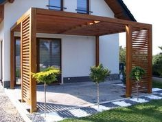 Attached Pergola Design for Your Dream Home - ., attached pergola design for your dream home - home There are various things which can easily eventually entire your backyard, like a classic white-colored picket. Modern Backyard, Modern Pergola, Patio Design, Backyard Landscaping Designs, Garden Design, Modern Backyard Landscaping, Diy Patio, Patio Interior