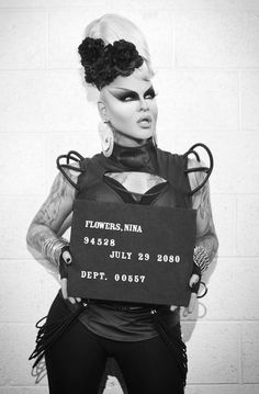 """I was surprisingly letdown by Adore Delano's look in her new music vid """"I Look F--king Cool.""""  Nina Flowers and Alaska Thunderf--k, however, were decked out in some really cool threads.  Rhinestone eyepatch, faux fur shrug with spikes jutting through it, and some fingerless gloves.  I looooved it. (Stylist Geoffrey Mac)."""