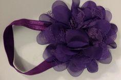 Purple Flower Infant Headband by LilahBea on Etsy