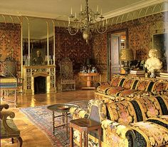 Rudolf Nureyev's Paris apartment on Quai Voltaire, Paris, Interior design by Renzo Mongiardino