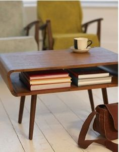 Teak Coffee Table, plumo