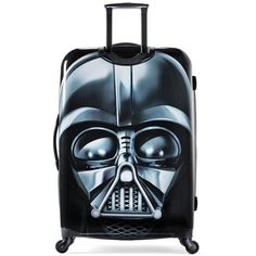 """American Tourister 28"""" Spinner Star Wars Darth Vader ($200) ❤ liked on Polyvore featuring bags, luggage and multi"""
