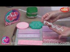 Cómo hacer encaje comestible paso a paso   Decoración de Tartas de Fondant por Azúcar con Amor - YouTube