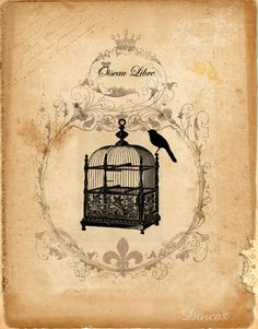 free vintage images for collage Love the dotty art hanging over the crib. Decoupage Vintage, Éphémères Vintage, Images Vintage, Vintage Labels, Vintage Ephemera, Vintage Cards, Vintage Paper, Vintage Prints, Vintage Birdcage