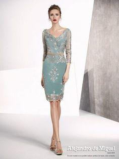 Colección 2019 - Alejandro de Miguel Mother Of Bride Outfits, Mother Of Groom Dresses, Mothers Dresses, Elegant Dresses, Beautiful Dresses, Couture Dresses, Fashion Dresses, Mob Dresses, Formal Dresses