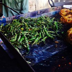 Indian Street Food - Snacks - Fried Green Chili