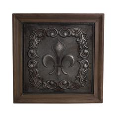 Find it at bombaycompany.com  - Fleur de Lis Plaque - Antique Silver