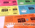 Convite Festa Neon Ingresso