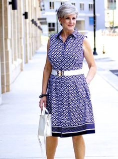when the temps heat up it's time to slip into a summer shirtdress. Cotton Dresses, Cute Dresses, Dresses For Work, Spring Summer Fashion, Spring Outfits, Fashion For Women Over 40, Shirtdress, Cool Outfits, Age