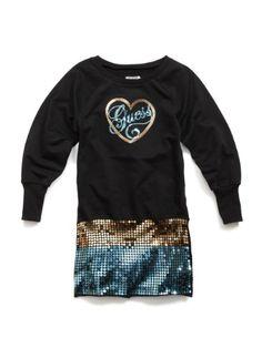 GUESS Kids Girls Big Girl Tunic-Length Sweatshirt « Clothing Impulse
