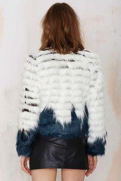 Glamorous Good Vibes Faux Fur Jacket - Faux Fur