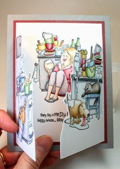 Karen Day for Art Impressions - Messy House Try-fold set.