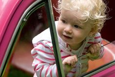 look at this sweetheart in a classic FIAT - too precious!!
