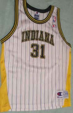 INDIANA PACERS VINTAGE REGGIE MILLER CHAMPION JERSEY YOUTH LARGE 14 -16