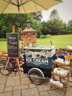 Ice cream tricycle already to go for a lovely wedding in the beautiful garden of… Ice tricycle ready for a beautiful wedding in the beautiful garden of the Stryups Hotel in Berkshire. Ice Cream Stand, Ice Cream Cart, Ice Cream Maker, Chanel Party, Sorbet Ice Cream, Ice Cream Buffet, Ice Cream Station, Ice Cream Wedding, Trim Healthy Recipes