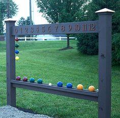 Bocce Ball Scoreboard Simple {Build-Your-Own} Bocce Scoreboard for backyard fun! Backyard Playground, Backyard Games, Outdoor Games, Outdoor Fun, Backyard Ideas, Backyard Designs, Backyard Retreat, Outdoor Entertaining, Patio Design