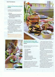 Angus's collective recipes for Homestyle Magazine, Oct/Nov 2011 issue.