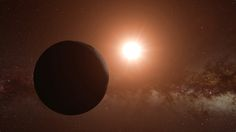 The alien world is warmed by the light of Proxima Centauri, a red dwarf star…