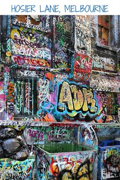 Hosier Lane in Melbourne, Australia- amazing street art graffiti!