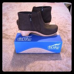 Dansko NEW IN BOX! Maria milled unbuckle, size 37. Super comfy and cuter than your average Dansko clog. Dansko Shoes Ankle Boots & Booties