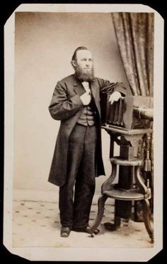 CDV-of-Daguerreotype-maker-Benjamin-Lochman-with-LARGE-STUDIO-CAMERA-amp-TRIPOD