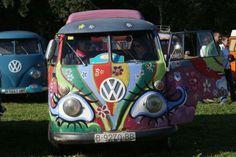 Vw T1, Volkswagen, Wolkswagen Van, Bus Crafts, Love Bugs, Camper Van, Van Life, Flower Power, Vans