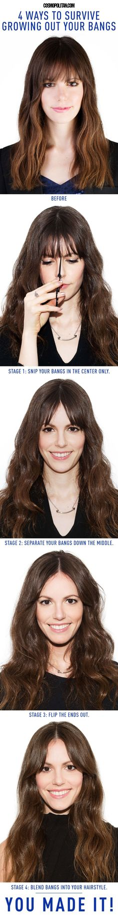 How to Grow Out Bangs - Best Hairstyles for Growing Out Your Bangs