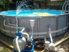 Swimming Pool Fountain Ideas pool waterfalls Homemade Swimming Pool Filters Found On Troublefreepoolcom