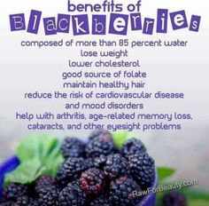 Benefits of blackberries