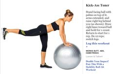SELF Magazine  Stability Ball .Butt firming Excercise 3 of 6