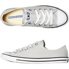 Converse Womens Shoes Dainty Shoe By Converse ❤ liked on Polyvore featuring shoes, sneakers, converse, sapatos, women shoes, converse sneakers, famous footwear, converse trainers and converse shoes