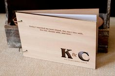 Custom wedding guest book wood rustic wedding by TotallySalinda