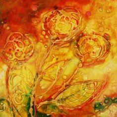 Fleurs en vitrail avec résine de glaçage Gédéo et cerne relief | DeSerres