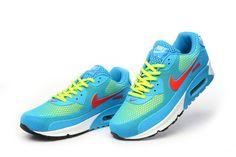Bra Andningsf Rmåga Nike Air Max 90 KPU TPU Sport Skor Gul Baby Blå Rosa Försäljningspris:570.14kr ===FREE SHIPPING===