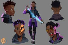 Character Design Animation, Fantasy Character Design, Character Design Inspiration, Character Concept, Character Art, Black Cartoon Characters, Superhero Characters, Fantasy Characters, Dope Cartoon Art