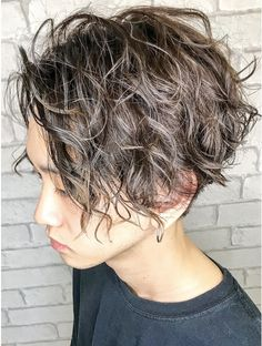 Shaggy Short Hair, Layered Curly Hair, Curly Pixie Hairstyles, Cool Hairstyles, Hair Styles 2016, Curly Hair Styles, Korean Men Hairstyle, Grunge Hair, Hair Inspiration