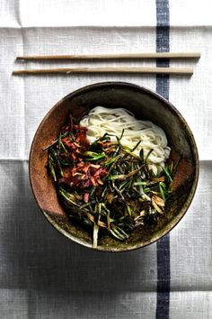 5 min scallion-fat noodle