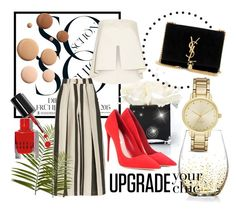 """""""Chic"""" by laurenleigh-bee on Polyvore featuring Hervé Gambs, American Atelier, Solace, Pier 1 Imports, Etienne Deroeux, Lumière, Bobbi Brown Cosmetics, Yves Saint Laurent, Kate Spade and Miu Miu"""