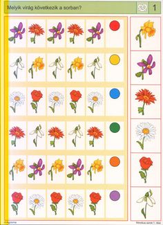 Logico --Ritmikus sorok 1 - Katus Csepeli - Picasa Web Albums Games For Kids, Activities For Kids, Sequencing Cards, File Folder Activities, Montessori Classroom, Worksheets For Kids, Speech Therapy, Kids Learning, Paper Crafts