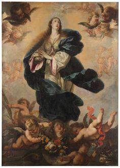 La Inmaculada Concepción // Ca. 1712 // Acisclo Antonio Palomino y Velasco #ImmaculateConception #VirgenMaría #VirginMary